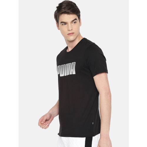 Puma Men Black Printed Round Neck T-shirt