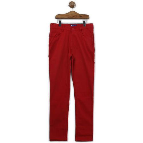612 League Regular Fit Boys Red Trousers