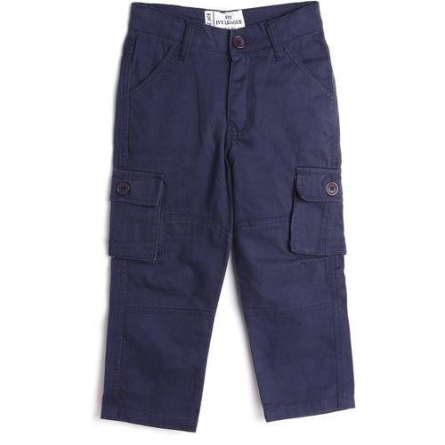 612 League Regular Fit Boys Blue Trousers