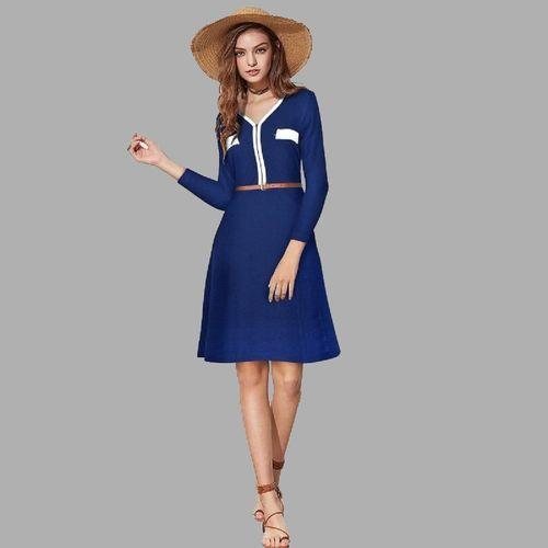 Shubhlaxmi Textile Women A-line Blue Dress