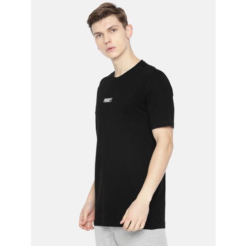 Puma Men Black Solid Round Neck Classics Logo N.2 T-shirt