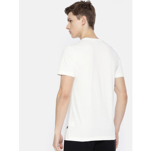 Puma Men White Printed Photo Street Round Neck T-shirt