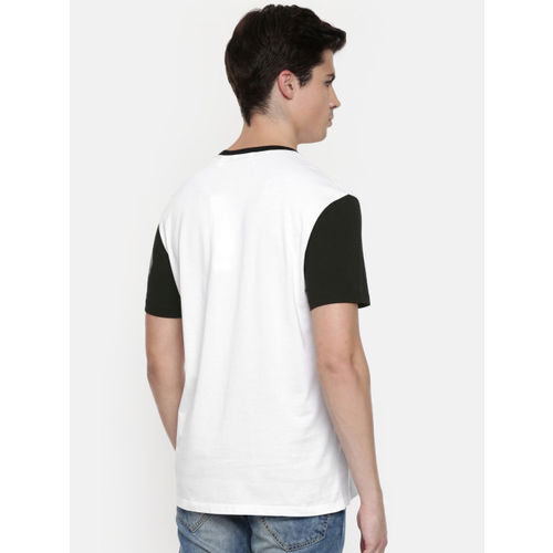 Calvin Klein Jeans Men White & Black Printed Round Neck T-shirt
