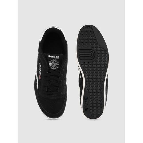 Reebok Classic Men Black Leather Revenge Plus Sneakers