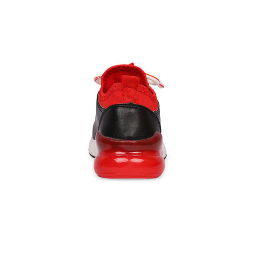 Walktrendy Kids Unisex Black & Red Sneakers