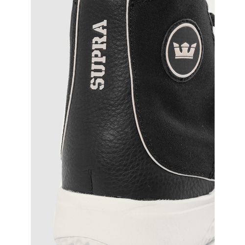 Supra Men Black STATIK Solid Mid-Top Sneakers