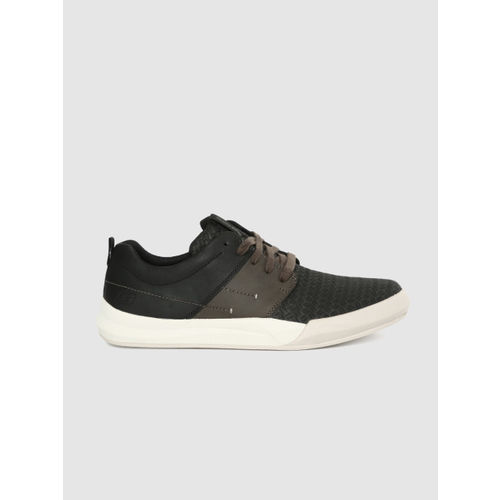 Skechers Men Black NORSEN-AVENO Leather Sneakers