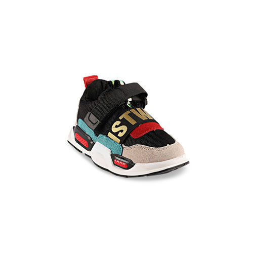Walktrendy Kids Black Printed Sneakers