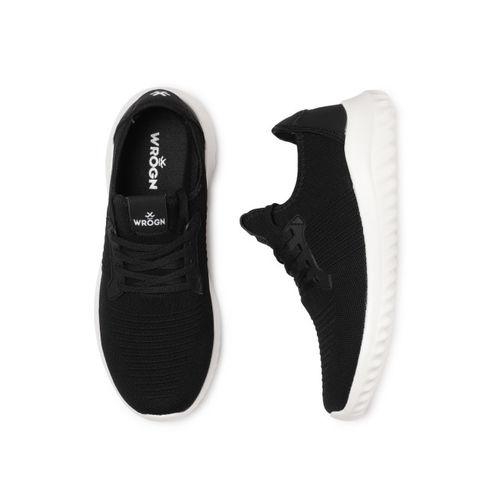 WROGN Men Black Textured Sneakers