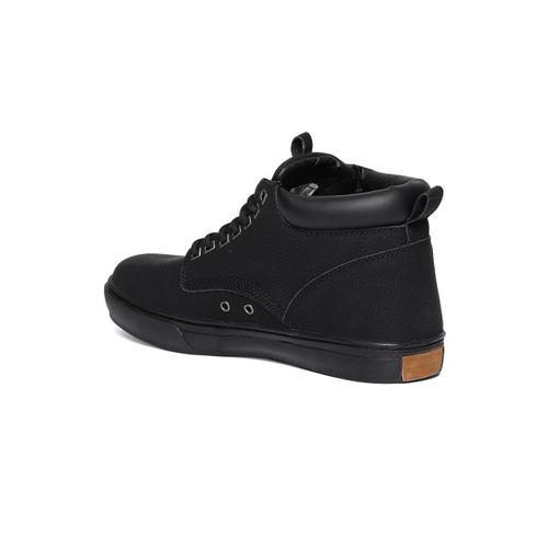 BRITISH KNIGHTS Men Black Solid Mid-Top Sneakers
