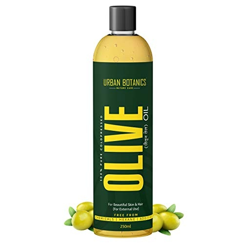 UrbanBotanics Pure Cold Pressed Olive Oil For Hair and Skin, 250ml