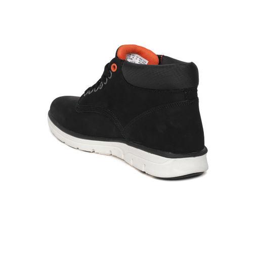 Timberland Men Black Bradstreet ADVCHK Nubuck Mid-Top Sneakers