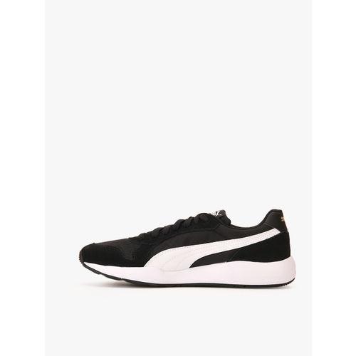 Buy Puma Men Black Solid St Runner Plus Leather Sneakers