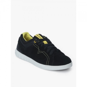 DIESEL Men Black Suede Sneakers