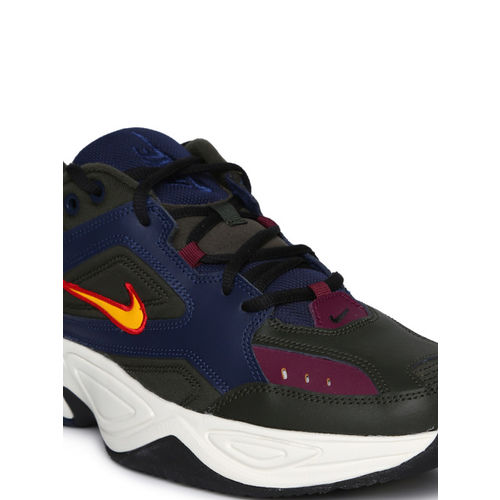 Nike Men Black & Navy Blue M2K Tekno Sneakers