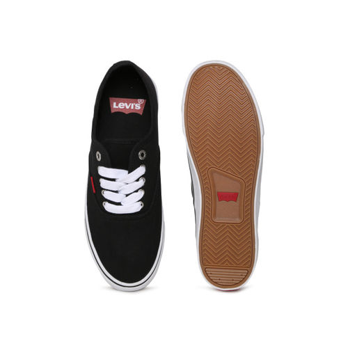Levis Men Black Derby Classic Sneakers