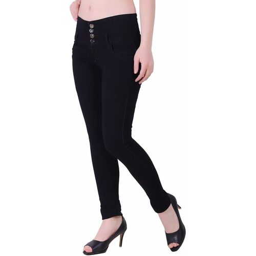 Ansh Fashion Wear Regular Women Black Jeans
