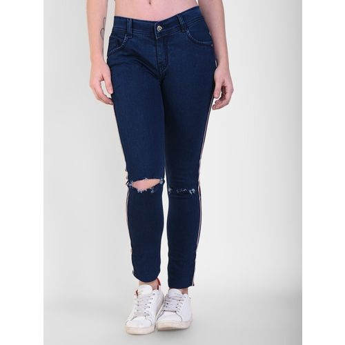 Crease & Clips Skinny Women Blue Jeans