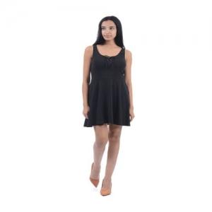 Aeropostale Black Cotton Mini Dress