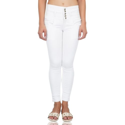 Luxsis Skinny Women White Jeans