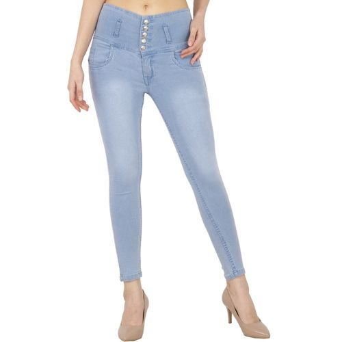 AAKRITHI Regular Women Light Blue Jeans