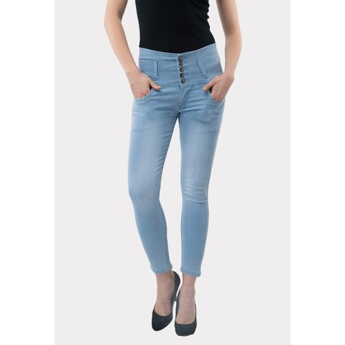 AAKRITHI Slim Women Light Blue Jeans