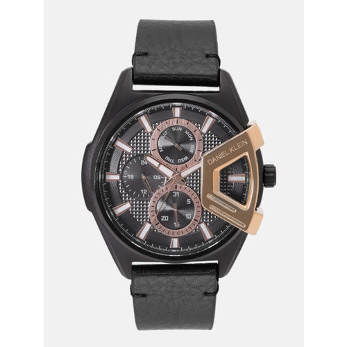 Daniel Klein Exclusive Men Black Analogue Watch 12158-3