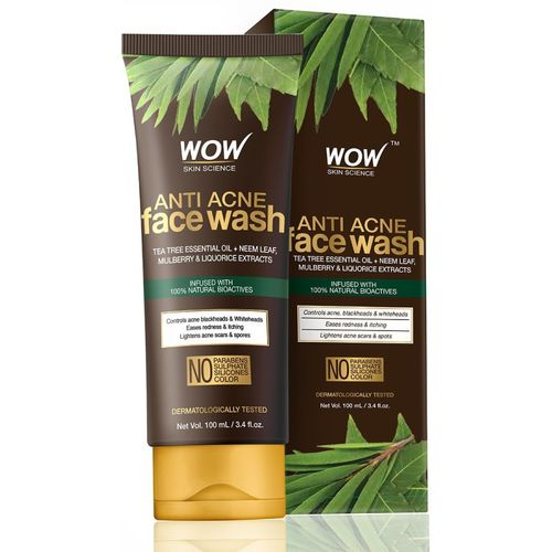 WOW Skin Science Anti Acne Face Wash - OIL Free - No Parabens, Sulphate, Silicones & Color Face Wash(100 ml)