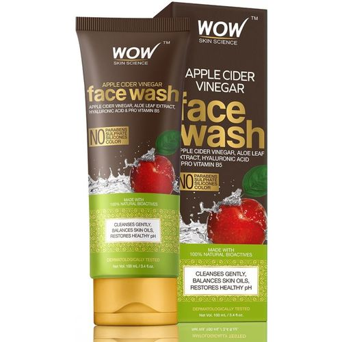 WOW Skin Science Apple Cider Vinegar Face Wash 100mL Tube Face Wash(100 ml)