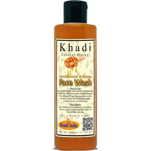 Khadi Natural Herbal Sandalwood and Honey Face Wash 200ml Face Wash(200 ml)