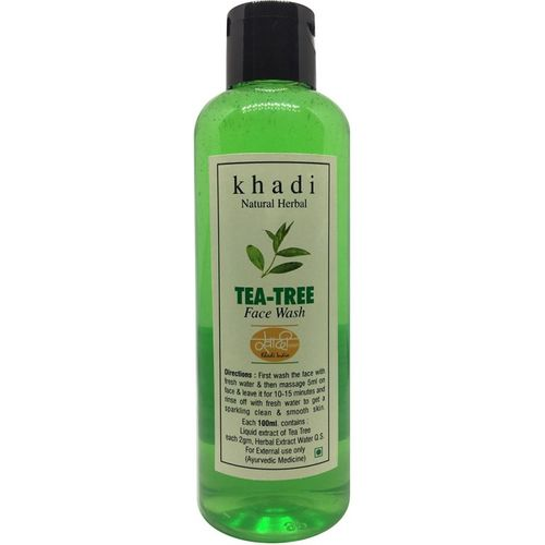Khadi Herbal Natural Tea Tree Face wash Face Wash(200 g)