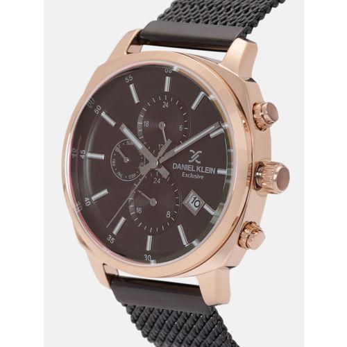 Daniel Klein Exclusive Men Coffee Brown Chronograph Watch 12138-2