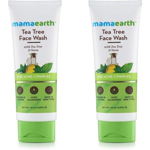 Mamaearth Tea Tree Natural Face Wash for Acne & Pimples Wash Face Wash(200 ml)