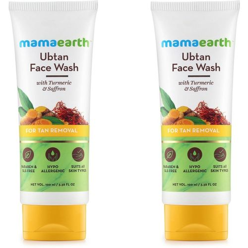 Mamaearth Ubtan Natural Face Wash with Turmeric & Saffron Face Wash(200 ml)