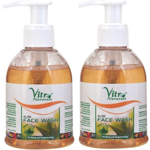 Vitro Naturals Aloe Pack of 2 Face Wash(150 ml)