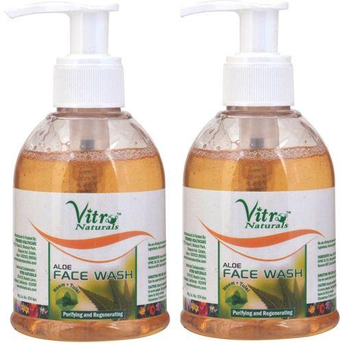 Vitro Naturals Aloe Pack of 2 Face Wash(150 ml)