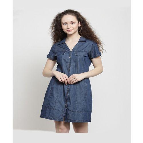 Latin Quarters Navy Mini Dress