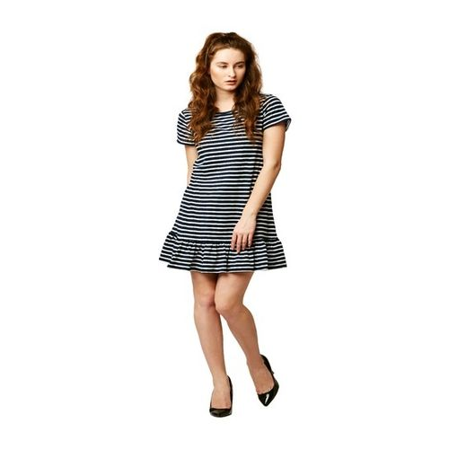 Miss Chase black & white Striped Above Knee Dress