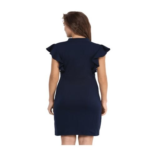Miss Chase Navy Slim Fit Above Knee Dress