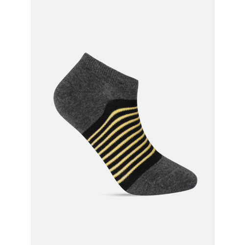 Mast & Harbour Men Pack of 3 Striped Ankle-Length Socks