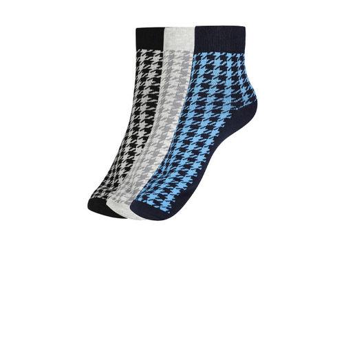 Mast & Harbour Men Pack of 3 Patterned Ankle-Length Socks