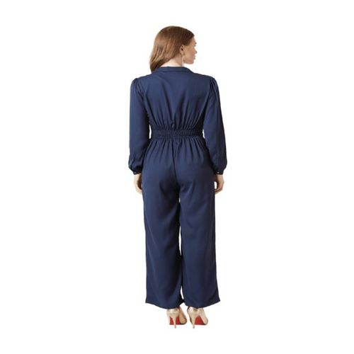 Miss Chase Navy Full Sleeves Jumpsuit