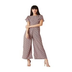 Miss Chase Light Brown Printed Jumpsuit