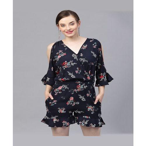 Street 9 Navy Floral Print Jumpsuit