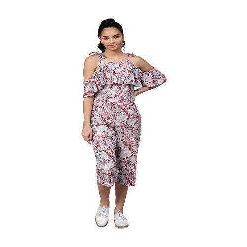 Street 9 Grey Floral Print Jumpsuit