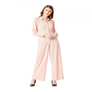 Miss Chase Pink Full Sleeves Jumpsuit
