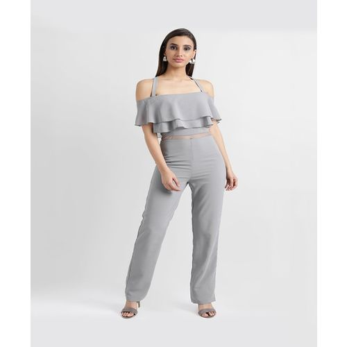 Kazo Grey Maxi Jumpsuit