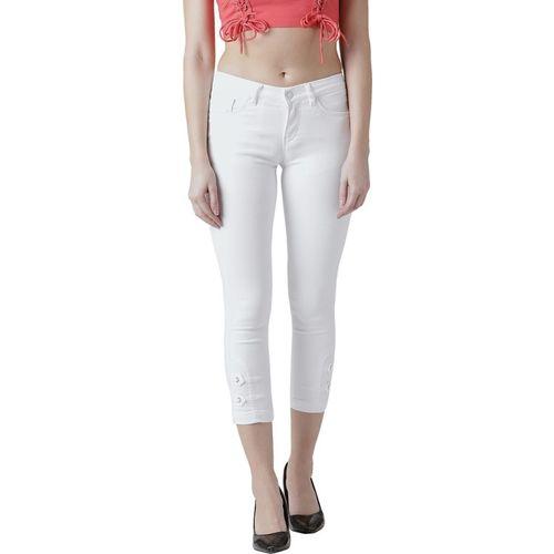 Devis Skinny Women White Jeans