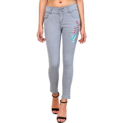 Ico Blue Star Slim Women Grey Jeans