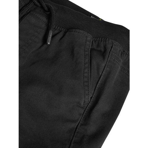 next Boys Black Regular Fit Solid Regular Trousers